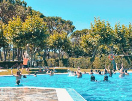 Aquagym Camping Valldaro in Spain