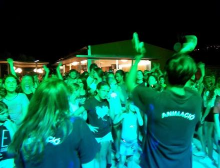Disco for young people at Camping Valldaro