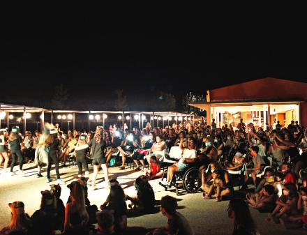 Night show at Camping Valldaro