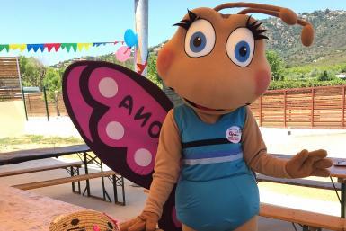 Darona: mascotte van Camping Valldaro