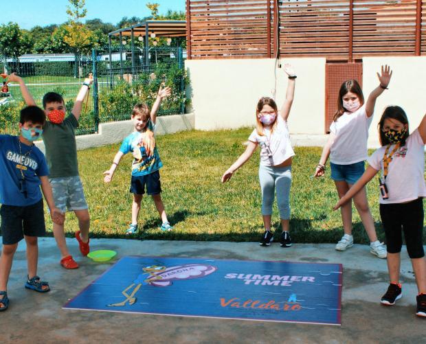 Kinderanimatie in de zomer