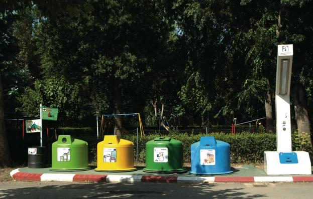 Recycling container op Camping Valldaro