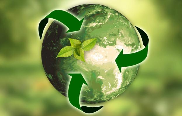 Ecologisch groen recyclingsymbool