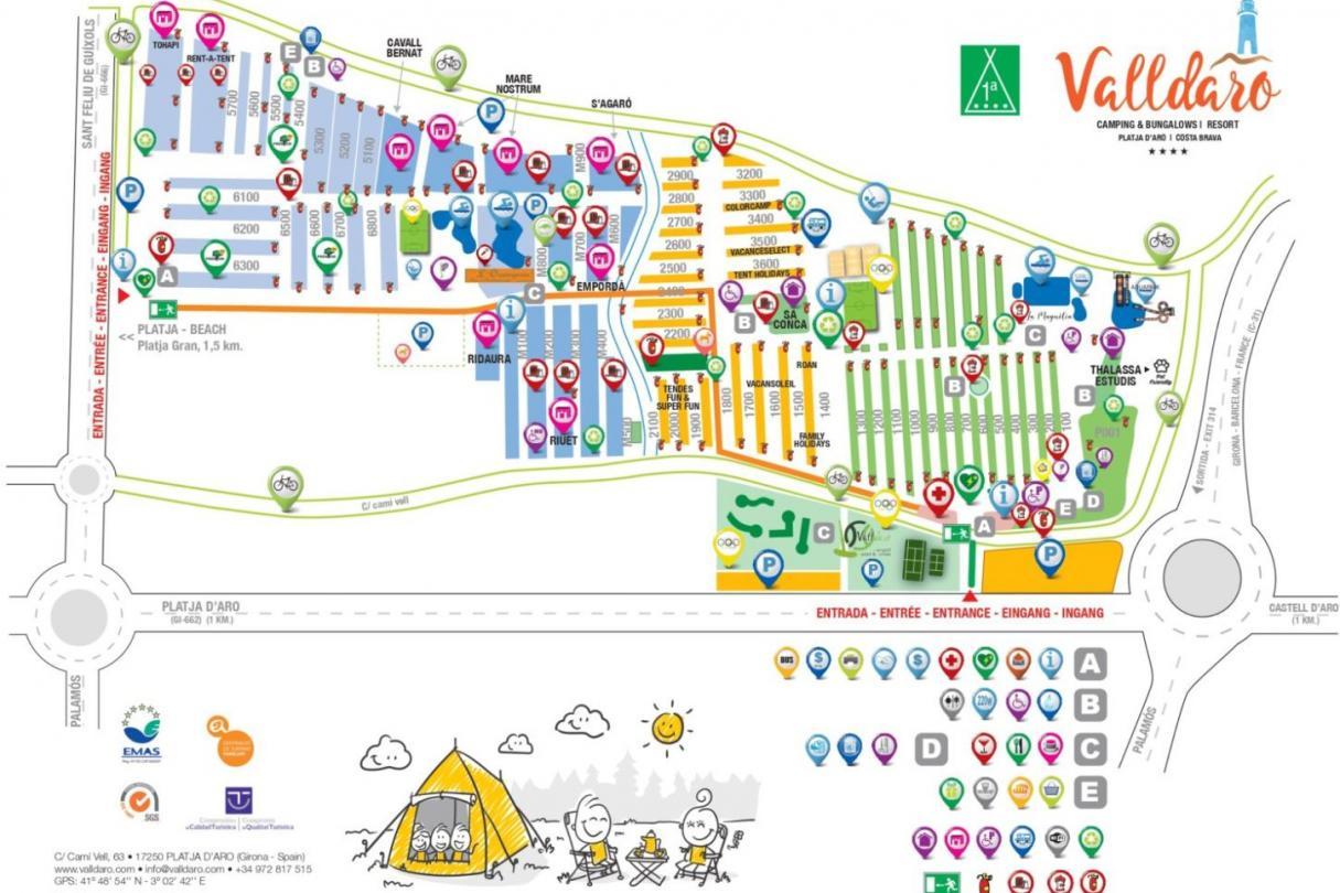 Plànol Camping Valldaro