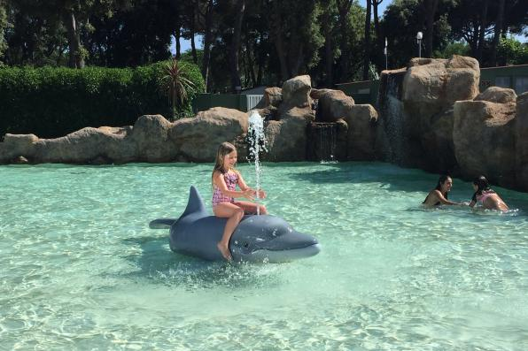 Pool for kids at Camping Valldaro in Spain