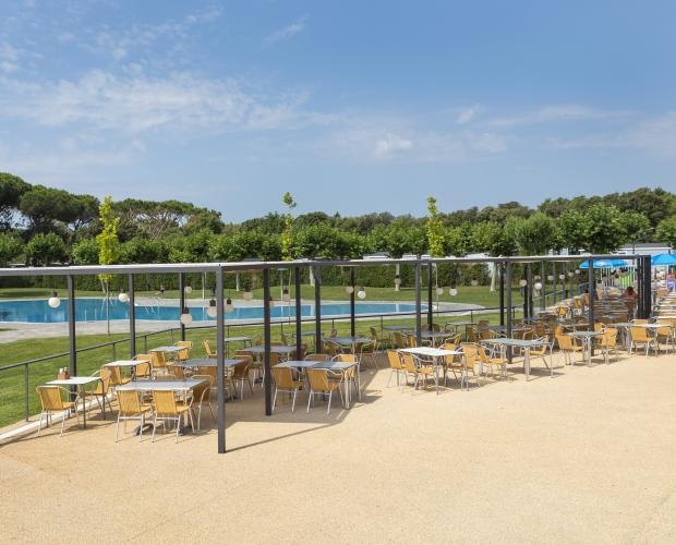Piscina i bar Camping Valldaro