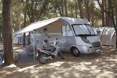 Motorhome camping in Playa de Aro (Catalonia)