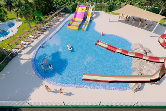 Camping Pool with slides