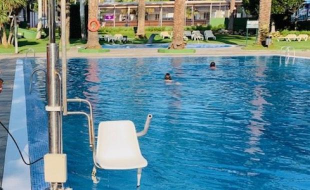 Zwembad aangepast vanaf de camping in Platja d'Aro