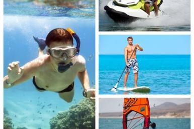 Sports nautiques à Playa de Aro en Espagne