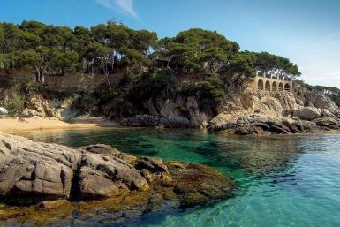 Crique de Playa de Aro en Espagne