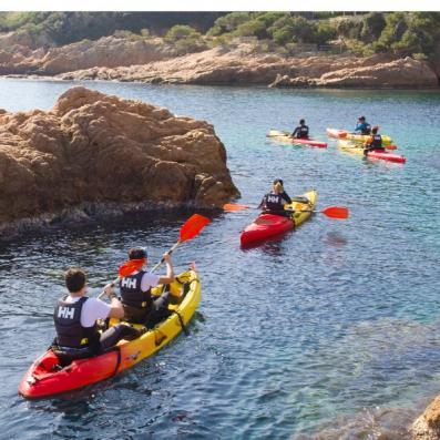 Kayak in Costa Brava