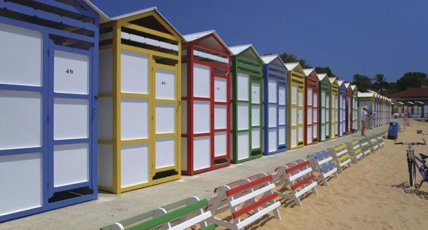 Casetes de platge a S'Agaró