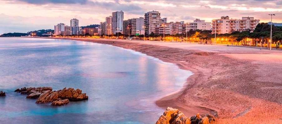 Playa de Aro au coucher du soleil