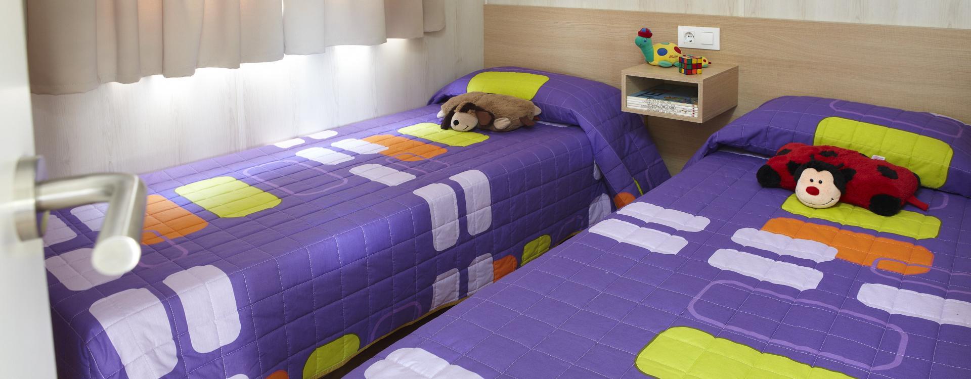 Deux lits Bungalow Ridaura