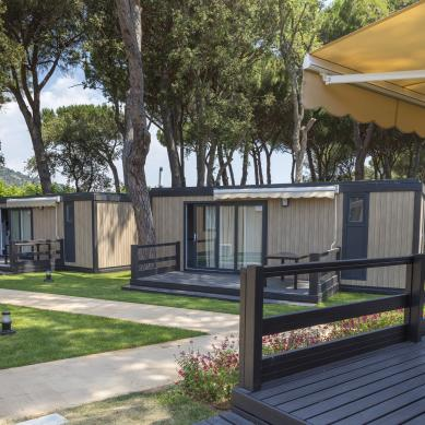 Bungalows op Camping & Bungalows Valldaro in Girona