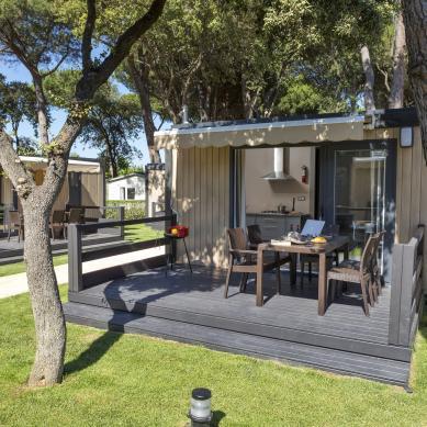 Terraza de bungalow
