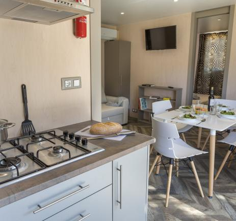 Kitchen Bungalows S'Agaró - Camping Valldaro