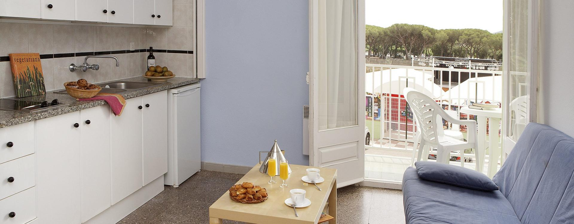 Studio cuisine avec balcon