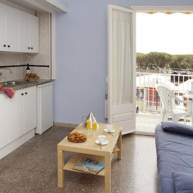 cocina de los apartamentos Valldaro