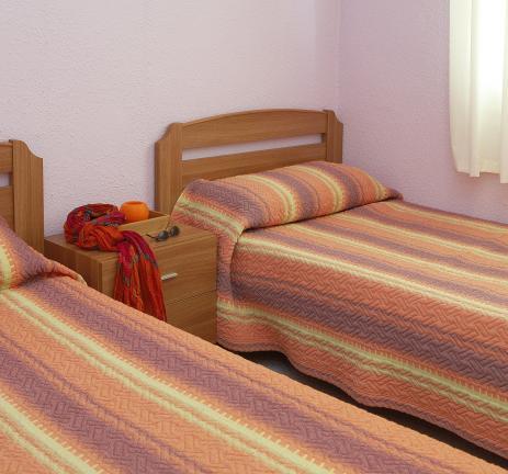 Appartement Valldaro: Chambre avec deux lits