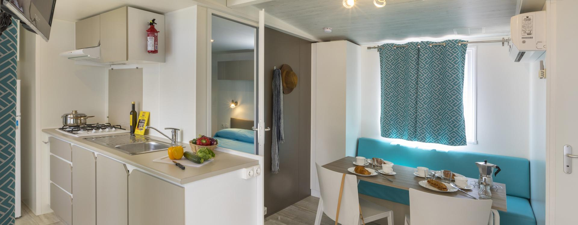 Interieur Mobil Home Empordà - Camping Valldaro