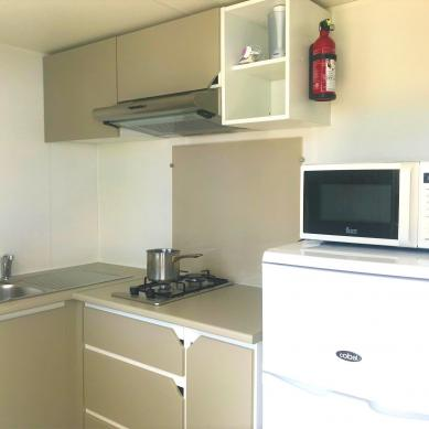 Kitchen equipped of the mobile home