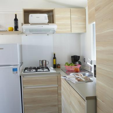 Mobile home kitchen - Camping in Playa de Aro
