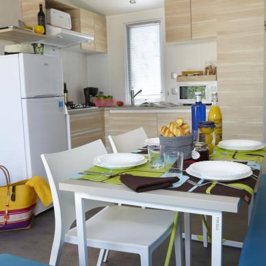 Kitchen equipped for mobile homes