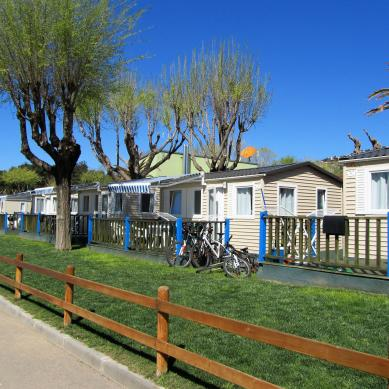 Landscaped area of Camping & Bungalows Valldaro
