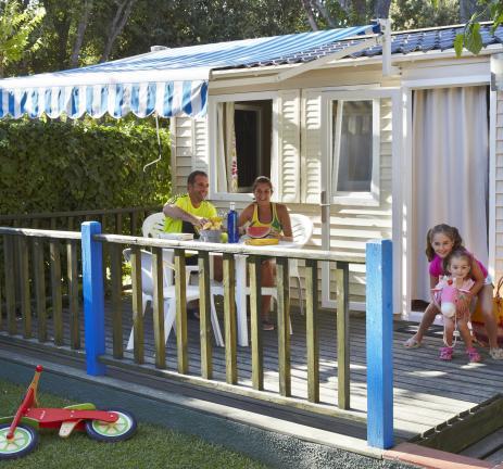 Terrassa Mobil Home Sa Conca Camping Valldaro