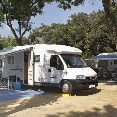 Pitch for a motorhome to spend the night in Catalonia