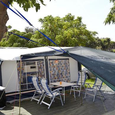 Parcela grande para caravanas en Playa de Aro