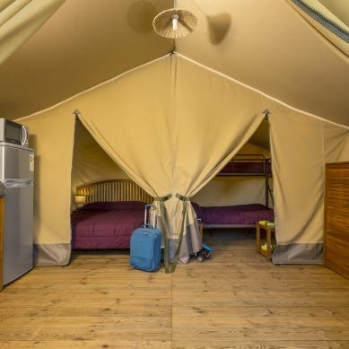 Luxury tents at Camping Valldaro