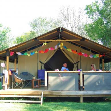 Superleuke tent op Camping & Bungalows Valldaro, Costa Brava