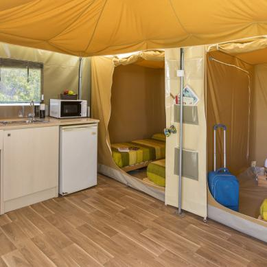 Tents with kitchen on the Costa Brava