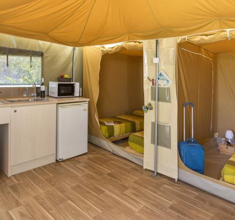 Cuina tenda Camping Valldaro