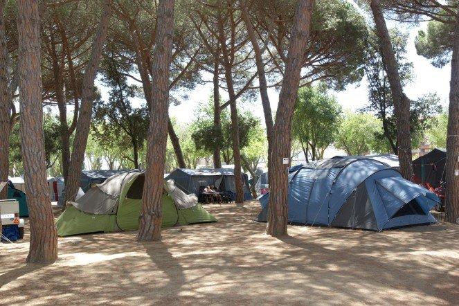 Camping per tendes a Platja d'Aro