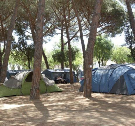 Camping for tents in Spain