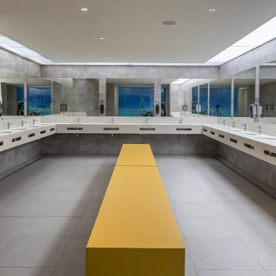 Interior of the bathrooms