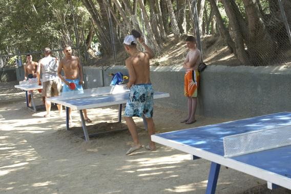 Ping-pong at the campsite