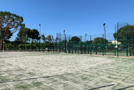Sports courts at the camping in Playa de Aro