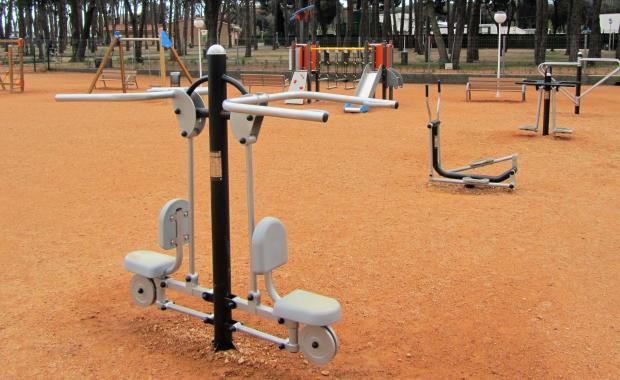 Parc gimnàs del càmping