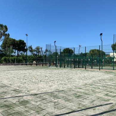 Views of the tennis court